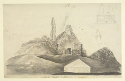 S. view of the Surya Temple ('Black Pagoda'), Konarak (Orissa). 12 December 1809